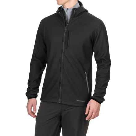 Merrell Sillem Soft Shell Hooded Jacket (For Men) in Black - Closeouts