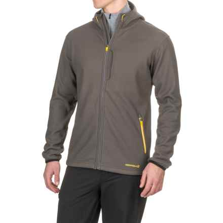Merrell Sillem Soft Shell Hooded Jacket (For Men) in Shadow - Closeouts