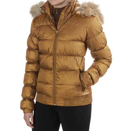 Merrell Silversun Featherless Puffer 2.0 Jacket - Insulated (For Women) in Bone Brown - Closeouts