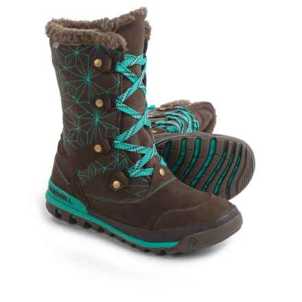 Merrell Silversun Lace Leather Snow Boots - Waterproof, Insulated (For Women) in Bracken - Closeouts