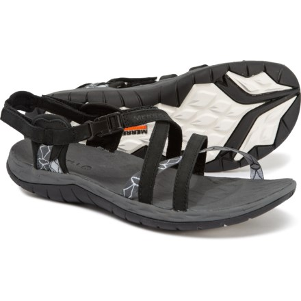 f22bb08b0ac36 Merrell Siren Cardia Q2 Sport Sandals - Leather (For Women) in Black -  Closeouts