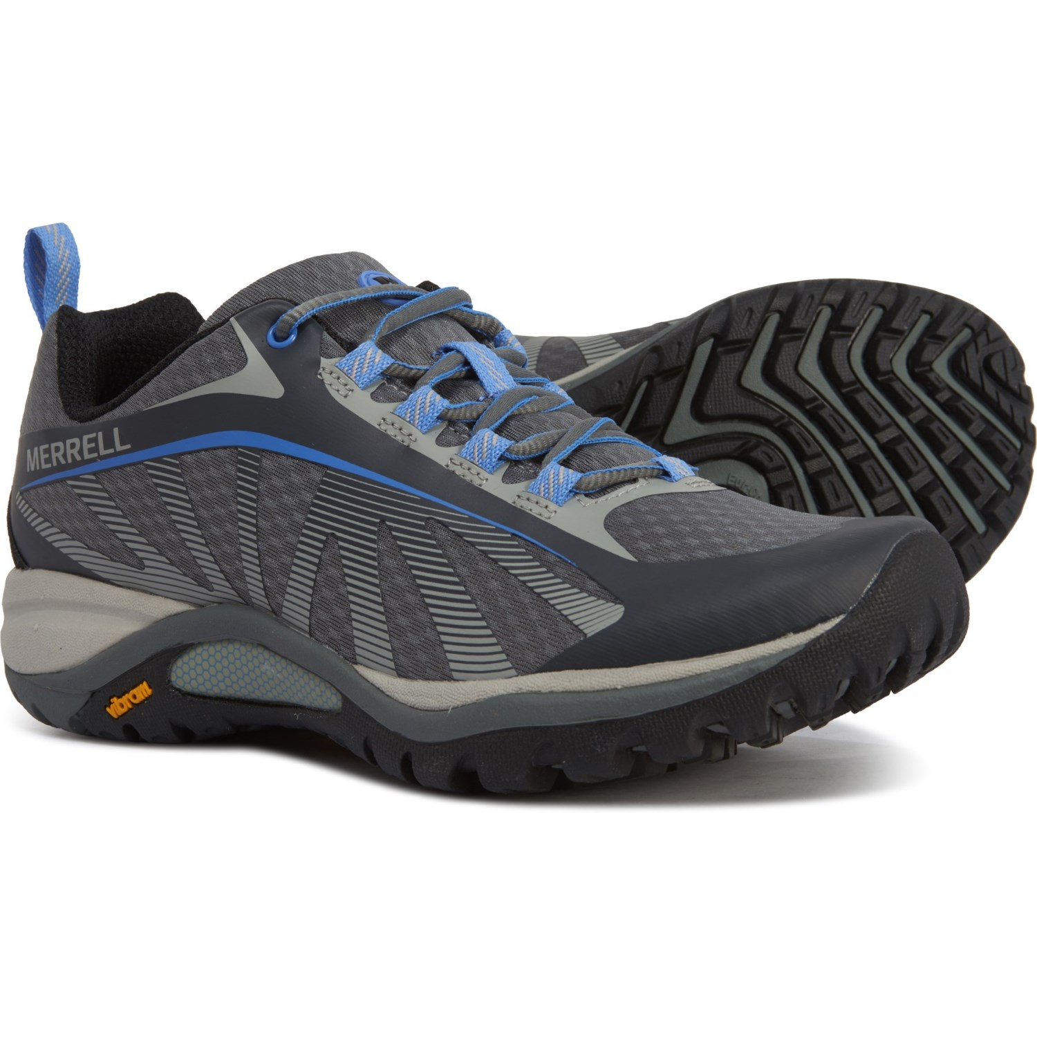 Merrell Womens Siren Edge Q2 Walking Shoes Grey Sports Outdoors Breathable