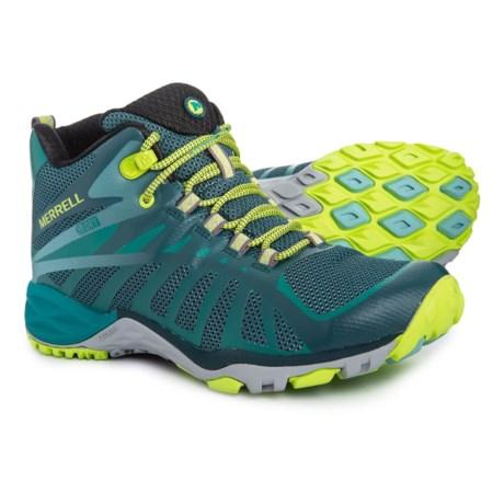 e20b57b4149 Merrell Siren Edge Q2 Mid Hiking Boots - Waterproof (For Women) in Jungle