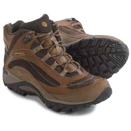 Merrell Siren Mid Hiking Boots - Waterproof, Leather (For Women) in Brown - Closeouts