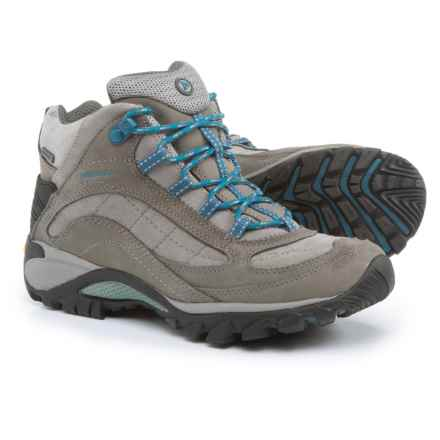 Merrell Siren Mid Hiking Boots - Waterproof, Leather (For Women) in Castle Rock/Blue - Closeouts