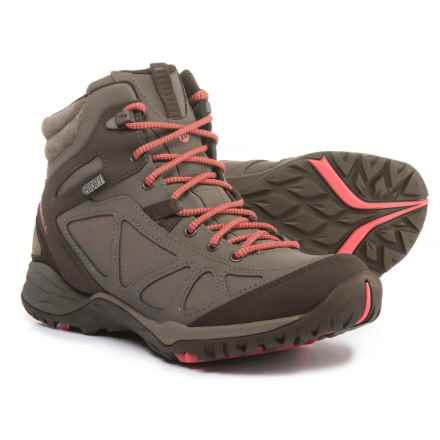 Merrell Siren Q2 Mid Hiking Boots - Waterproof, Nubuck (For Women) in Boulder - Closeouts