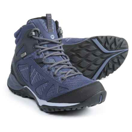 Merrell Siren Sport Q2 Mid Hiking Boots - Waterproof (For Women) in Crown Blue - Closeouts