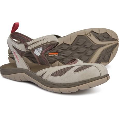 8019af2a6a92 Merrell Siren Wrap Q2 Sandals - Nubuck (For Women) in Aluminum