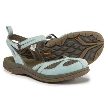 Merrell Siren Wrap Q2 Sandals - Nubuck (For Women) in Blue Surf - Closeouts