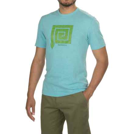 Merrell Snake Graphic T-Shirt - Cotton Blend, Short Sleeve (For Men) in Shoreline Heather - Closeouts