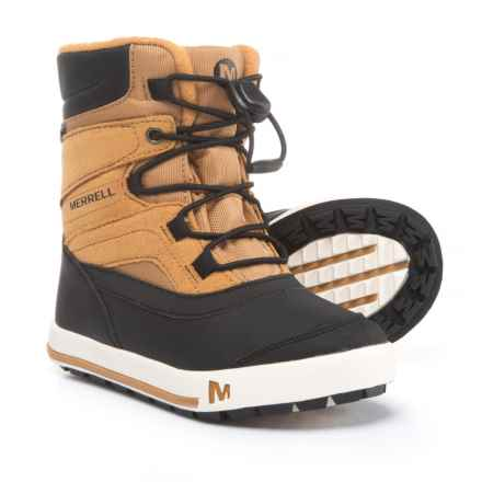 Merrell Snow Bank 2.0 Snow Boots - Waterproof, Insulated (For Boys) in Wheat/Black - Closeouts