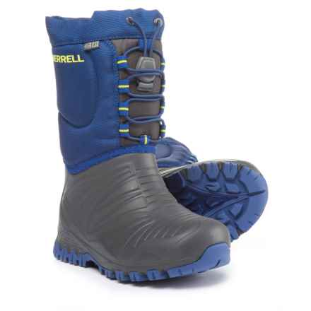 Merrell Snow Quest Pac Boots - Waterproof, Insulated (For Boys) in Grey/Cobalt - Closeouts