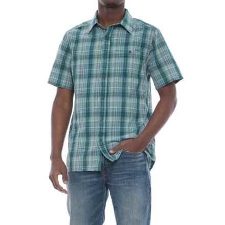 Merrell Sonoma Seersucker Shirt - Short Sleeve (For Men) in Seaweed Solid - Closeouts