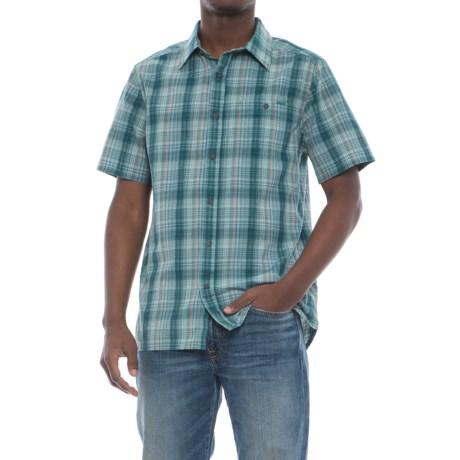Merrell Sonoma Seersucker Shirt - Short Sleeve (For Men) in Seaweed Solid