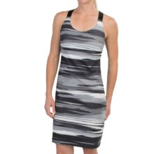 Merrell Soto Dress - UPF 30+, Built-In Bra, Sleeveless (For Women) in Black Print - Closeouts