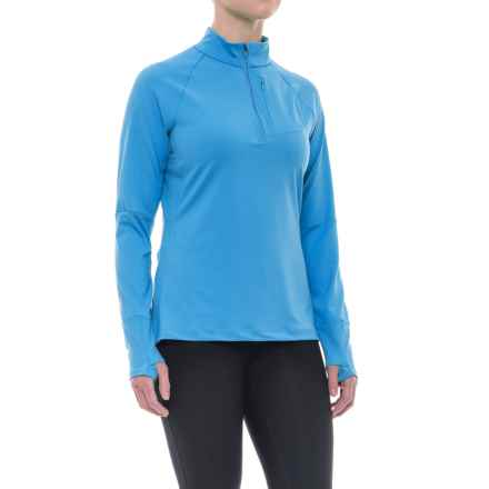 Merrell Soto Zip Neck Tech Shirt - Long Sleeve (For Women) in Sea Shore - Closeouts