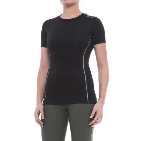 Merrell Sportswear Merrell Champex Compression Shirt - Short Sleeve (For Women) in Black Solid