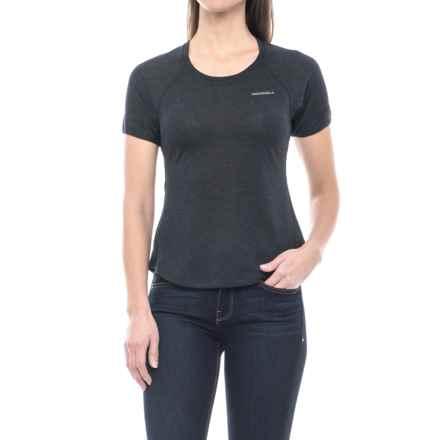 Merrell Sportswear Merrell Dri-Release® Paradox Tech T-Shirt - Short Sleeve (For Women) in Black Solid - Closeouts