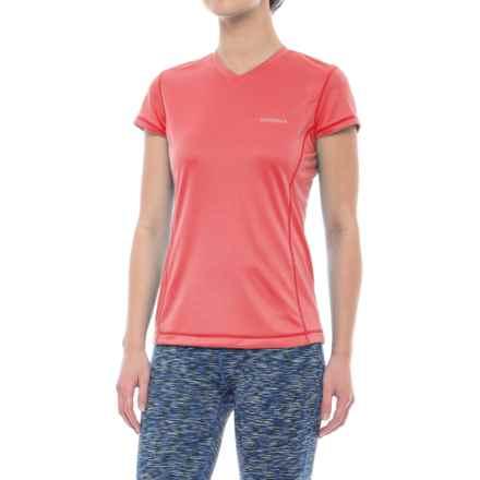 Merrell Sportswear Merrell Fastrex Tech T-Shirt - Short Sleeve (For Women) in Rose Of Sharn - Closeouts