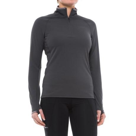 Merrell Sportswear Merrell Mira Tech Shirt - Zip Neck, Long Sleeve (For Women) in Asphalt