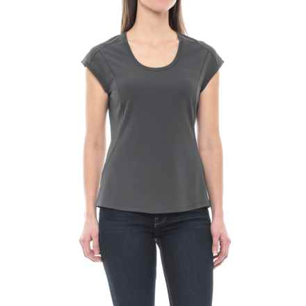 Merrell Sportswear Merrell Mira Tech T-Shirt - Short Sleeve (For Women) in Asphalt - Closeouts