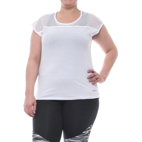 Merrell Sportswear Merrell Salina Mesh T-Shirt - Short Sleeve (For Women) in White