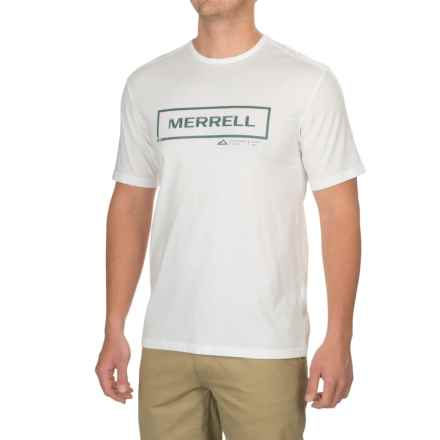 Merrell Stamped Graphic T-Shirt - Cotton Blend, Short Sleeve (For Men) in White - Closeouts