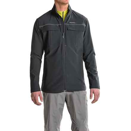 Merrell Stapleton SE Travel Jacket - UPF 50+ (For Men) in Black - Closeouts