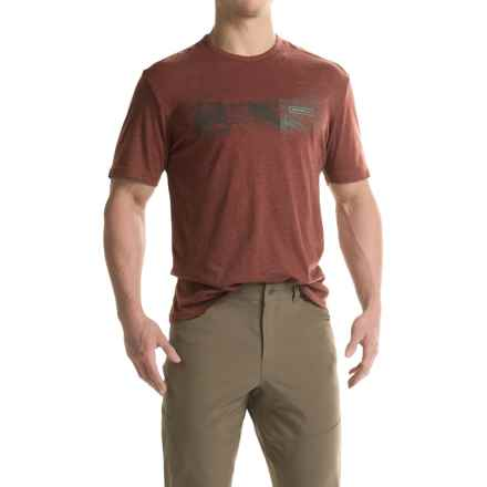 Merrell Stitch Trail T-Shirt - Cotton Blend, Short Sleeve (For Men) in Andorra - Closeouts