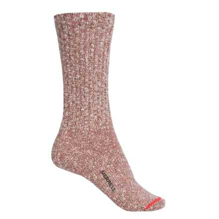 Merrell Stowe Socks - Crew (For Women) in Fusion Coral - Closeouts