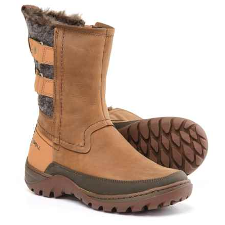 Merrell Sylva Mid Buckle Winter Boots - Waterproof, Insulated (For Women) in Merrell Tan - Closeouts