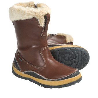 Merrell Taiga Zip Boots - Waterproof, Leather (For Women) in Cinnamon