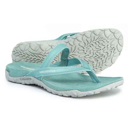 b05a140ab47 Merrell Terran Ari Post Thong Sandals (For Women) in Aquifer