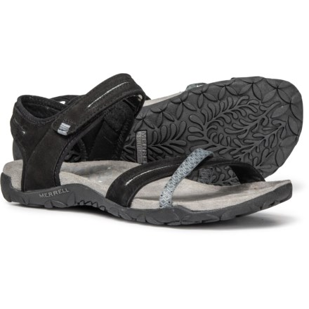 dbcaeb0d1c19 Merrell Terran Cross II Sport Sandals - Leather (For Women) in Black