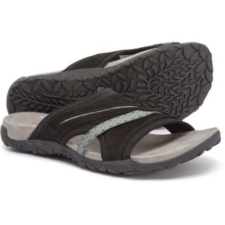 a0769ff17 Merrell Terran Slide II Sandals - Suede (For Women) in Black