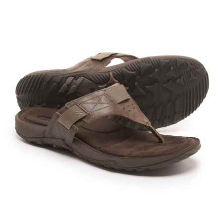 Merrell Terrant Flip-Flops (For Men) in Dark Earth - Closeouts