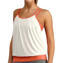 Merrell Thelon Tank Top - UPF 50+, Built-In Jog Bra (For Women) in White/Coral - Closeouts