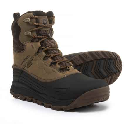 "Merrell Thermo Vortex 8"" Pac Boots - Waterproof, Insulated, Leather (For Men) in Canteen - Closeouts"