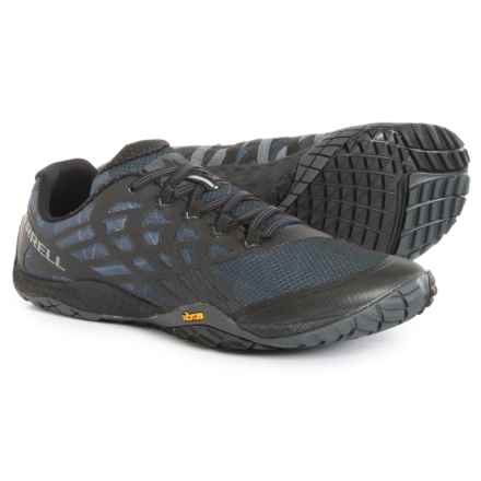 Merrell Trail Glove 4 Trail Running Shoes (For Men) in Black - Closeouts