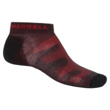 Merrell Trail Glove Ankle Socks (For Men) in Dark Charcoal/Red - Closeouts