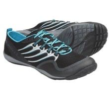 Merrell Trail Glove Barefoot Trail Running Shoes - Minimalist (For Men) in Black/Aqua - Closeouts
