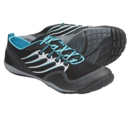Merrell Trail Glove Barefoot Trail Running Shoes - Minimalist (For Men) in Black/Aqua