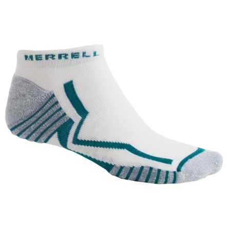 Merrell Trail Glove Elite Micro Socks - Below the Ankle (For Men) in White/Mallard - Closeouts