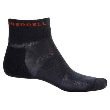 Merrell Trail Glove Mini-Crew Socks - Quarter Crew (For Men) in Black - Closeouts