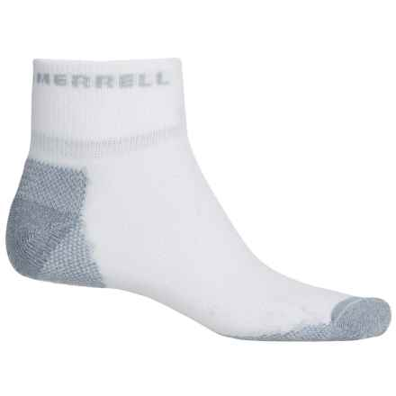 Merrell Trail Glove Mini-Crew Socks - Quarter Crew (For Men) in White/Light Grey - Closeouts