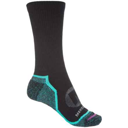 Merrell Trail Glove Socks - Crew (For Women) in Black - Closeouts