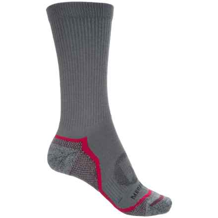 Merrell Trail Glove Socks - Crew (For Women) in Charcoal - Closeouts