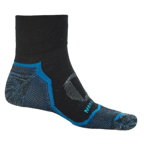 Merrell Trail Glove Socks - Quarter Crew (For Men) in Black