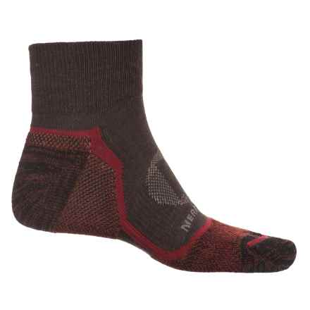 Merrell Trail Glove Socks - Quarter Crew (For Men) in Brown Heather - Closeouts