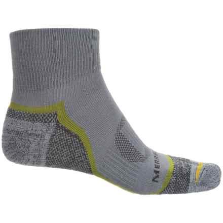 Merrell Trail Glove Socks - Quarter Crew (For Men) in Charcoal - Closeouts